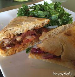 Duck sandwich at Cru