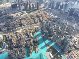 View from Burj Khalifa floor 148