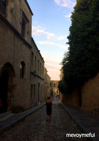 cobbled streets of rhodes