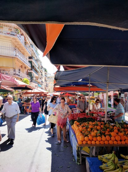market athens