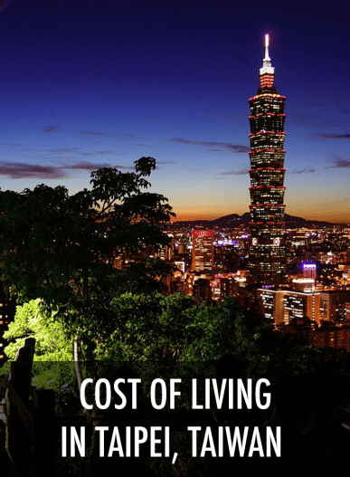 cost of living taipei taiwan
