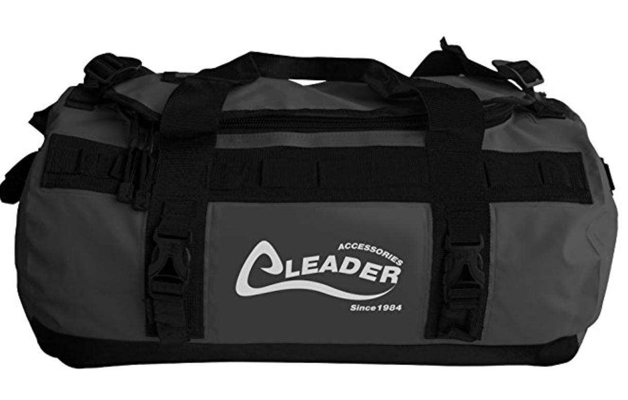 Leader Accessories Deluxe Water Resistant Pvc Tarpaulin Duffel Bag Backpack 81bfbce7691f9