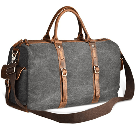 dde9a8451c LUXUR 40L Duffle Bag Canvas Travel Tote Shoulder Carry on Weekend Bag for  Trip