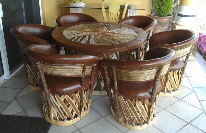 Wholesale equipales traditional Mexican restaurant and patio furniture crafted for centuries in