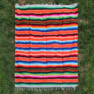 Orange Cotton Serape