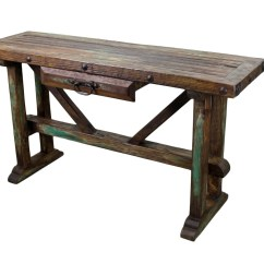 Make A Rustic Sofa Table Single Recliner Sale Recycled Old Pine Mexican Furniture