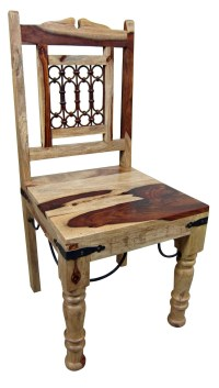 Hardwood And Iron Rustic Old World Dining Chair | Mexican ...