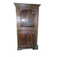 Old World Almirah with Carved Door | Mexican Rustic ...