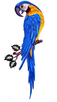 Blue Parrot Wall Decor | Mexican Rustic Furniture and Home ...