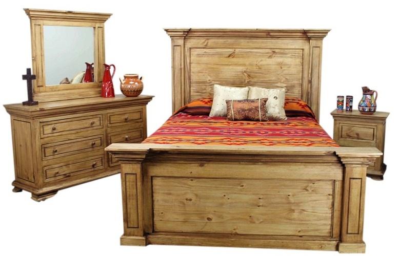 de la casa rustic bedroom set mexican