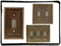 metal switch plates decorative