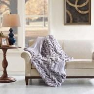 Lifestyle Grey Oversized Throw Blanket