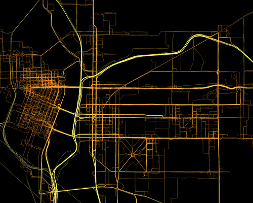 GPS Logs from Portland - 2008-2010 - Geoloqi.com by Aaron Parecki