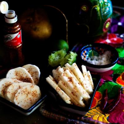 Jicama with Lime Juice and Tajin Chile Powder: The Only Mexican Snack You'll Need This Summer!