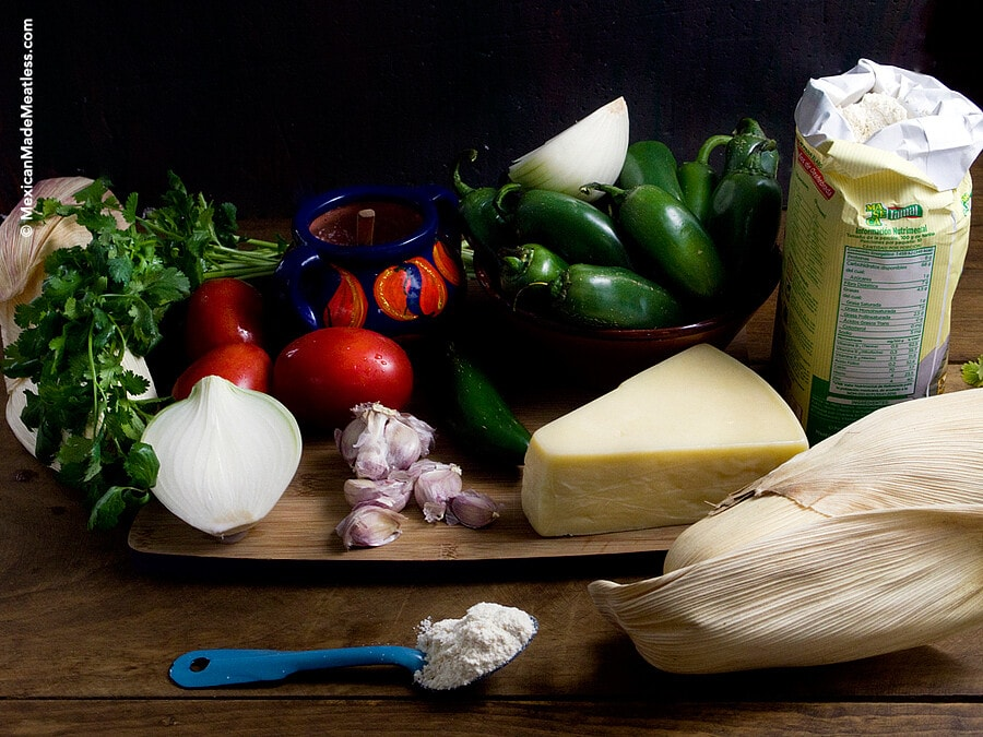 Ingredients for Making #Vegetarian #Tamales