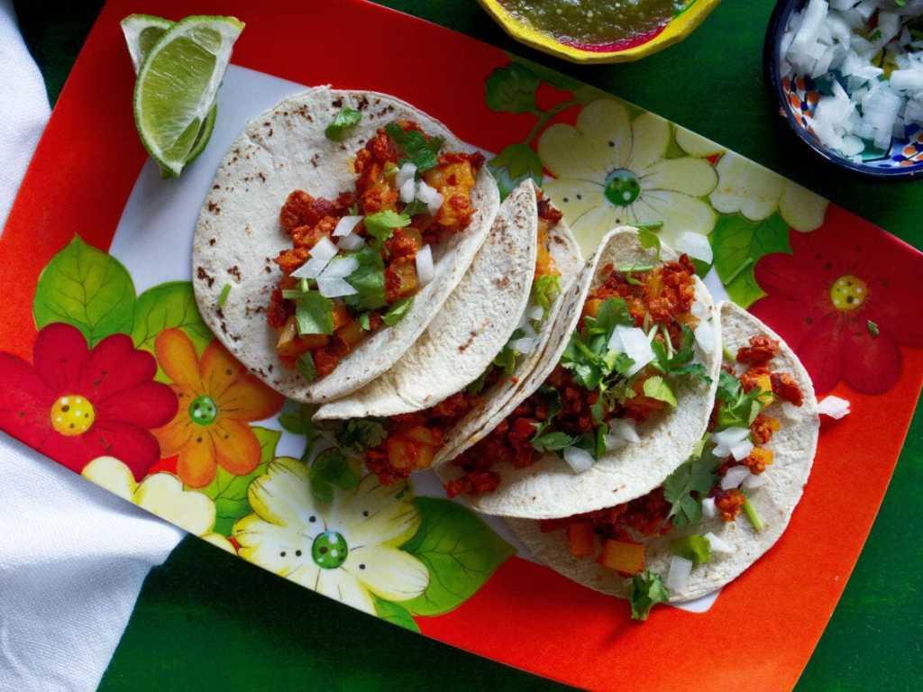 Chorizo And Potato Tacos | Chorizo Con Papas
