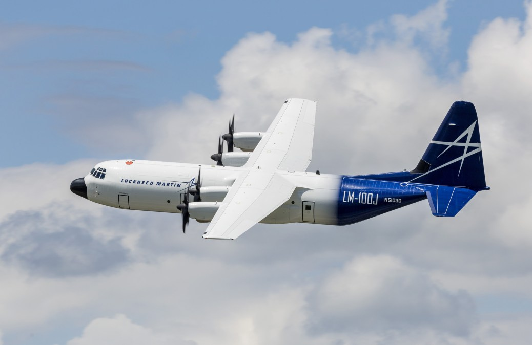 Lockheed Martin's LM-100J commercial freighter had a successful first flight, May 25, 2017. by Todd R. McQueen (PRNewsfoto/Lockheed Martin Aeronautics Com)