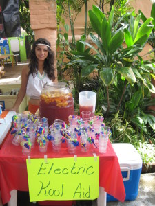 Volunteers sold Electric Kool-Aid (spiked only with booze) by the gallon.