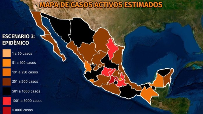 Map of the coronavirus in Mexico March 19: which are the six states that concentrate the most active cases