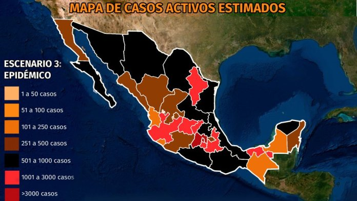 Map of the coronavirus in Mexico March 9: CDMX and Querétaro concentrate the highest incidence of active cases