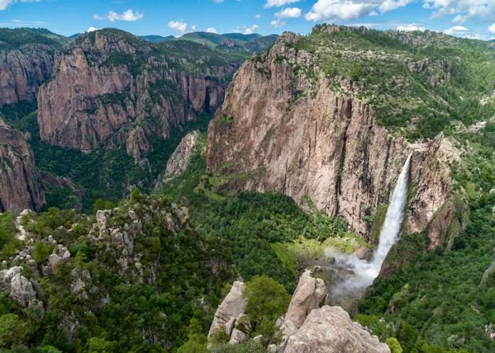 Basaseachi Waterfall in Copper Canyon.