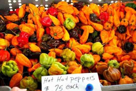 Salsa de Chile Habanero , variedad de chiles