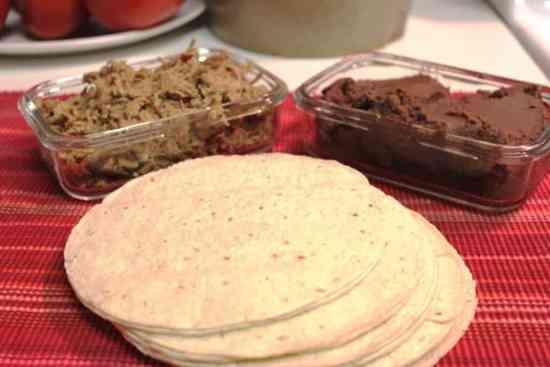 Cachetadas tacos de Tampico, tortillas
