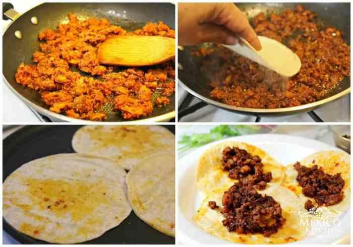 Tacos de Chorizo, sencilla receta
