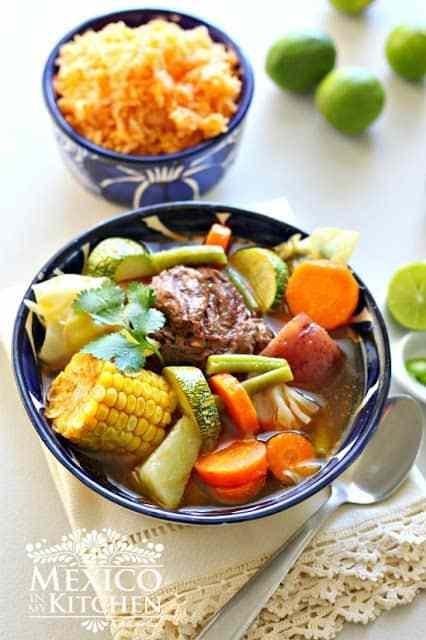 Caldo de res, Mexican beef and vegetables soup recipe