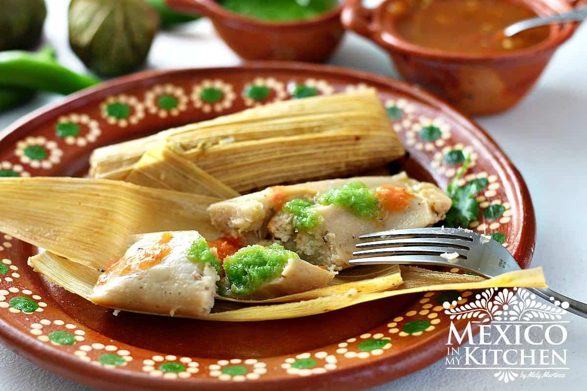 Chicken In Green Salsa Tamales  Tamales De Pollo En Salsa