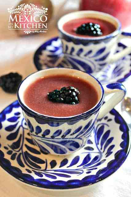 Blackberry atole masa drink mexico mora