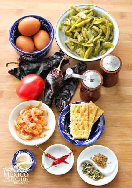 Dried shrimp patties, mexican recipe