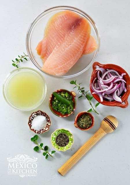 Tiritas de pescado Zihuatanejo Recipe