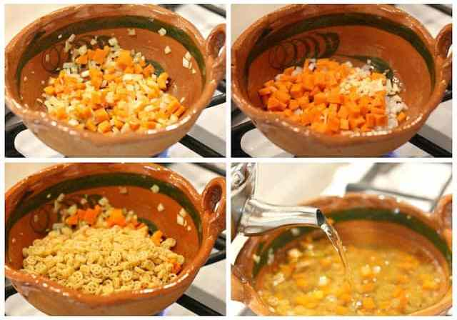 Mexican pasta soup recipe
