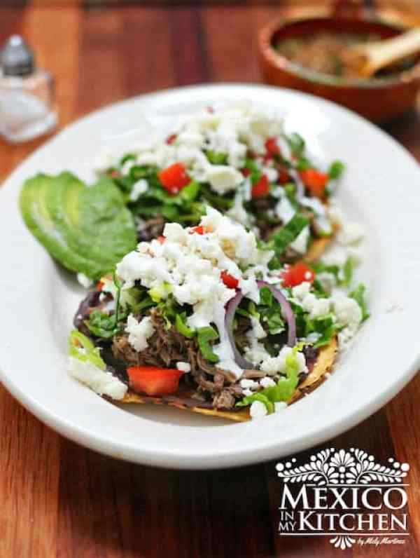 Beef Tostada Recipe   Mexican Tostadas Recipe   Authentic Mexican Recipes by Mexico in My Kitchen