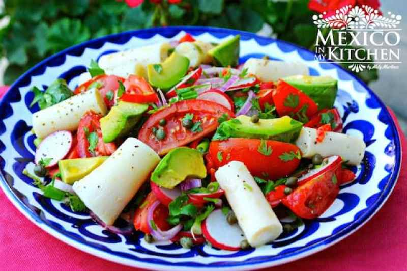 Heart of Palms Salad, mexican recipes with avocado.
