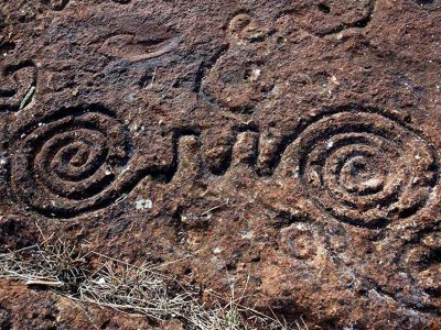 Petroglyphs at the Rock Art Sanctuary in Jalisco.