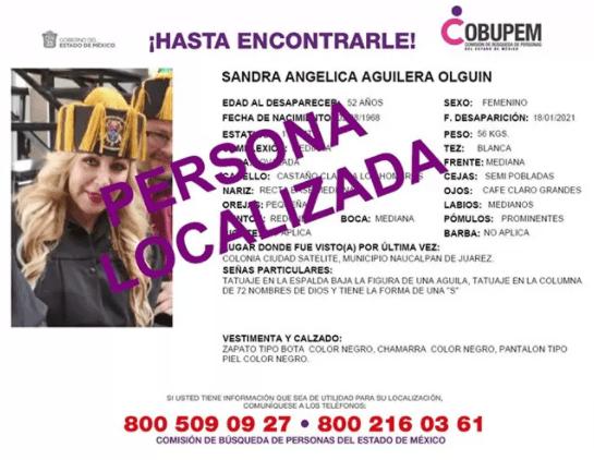 Localizan a Sandra Aguilera, el secuestro y la relación con los claustros doctorales patito