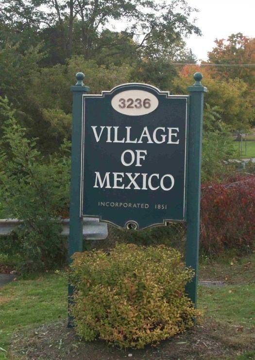 Village of Mexico Sign