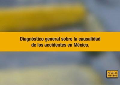 DIAGNÓSTICO GENERAL SOBRE LA CAUSALIDAD DE LOS ACCIDENTES EN MÉXICO.