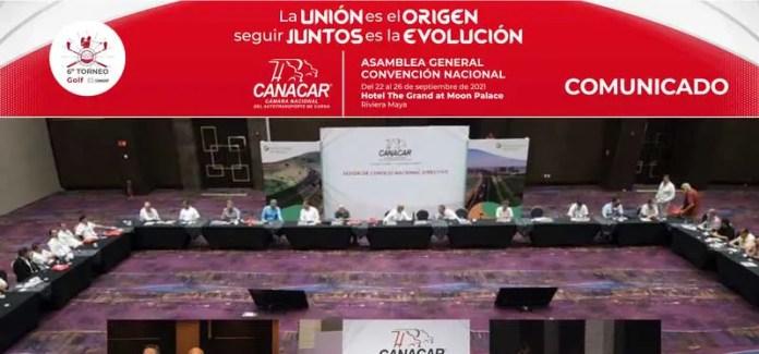 Inicia la Asamblea General Convención Nacional CANACAR 2021
