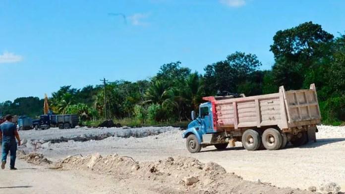 Transportistas locales quieren acarrear material para el Tren Maya