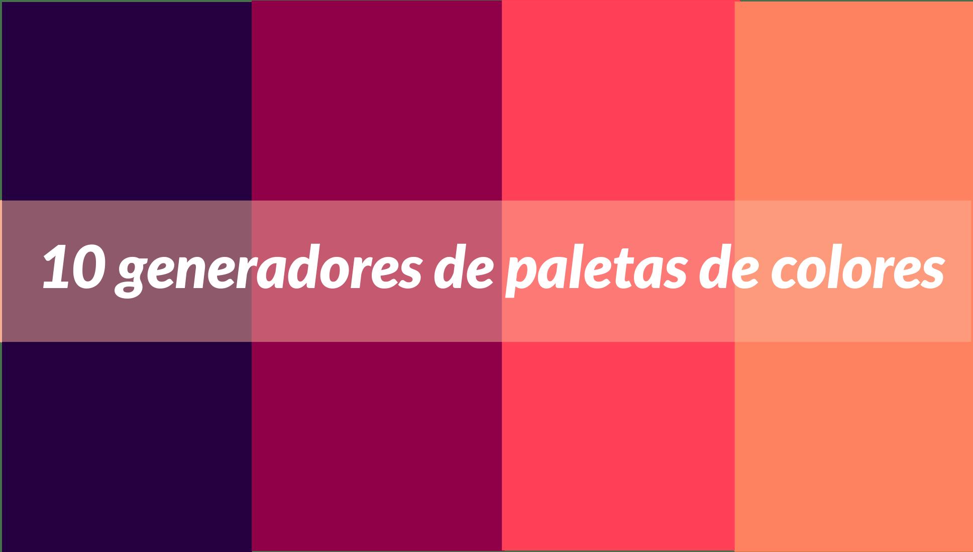 10 herramientas para generar paletas de colores online