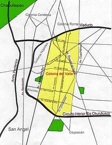 Colonia del Valle Ciudad de Mexico