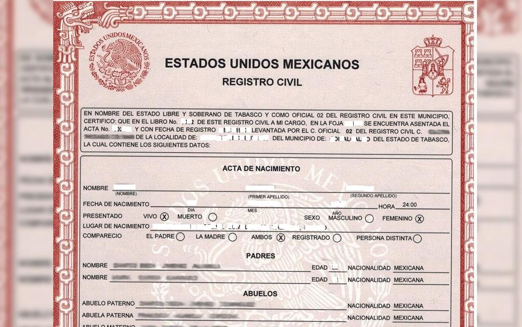 Cómo imprimir tu Acta de Nacimiento d México | mexperiencia