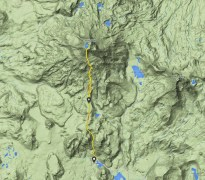 GPS track of our climb