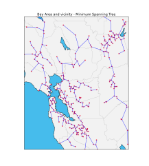 Minimum Spanning Tree for San Francisco and vicinity