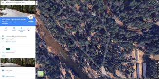 GoogleMaps satellite view allows you to explore single campsite features.