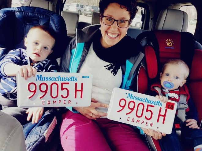Our new licence plates