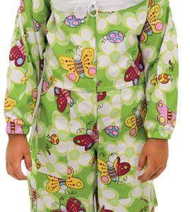 child economy suit with round veil
